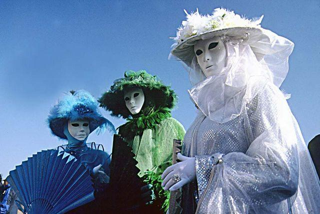 Famous carnival of Venice