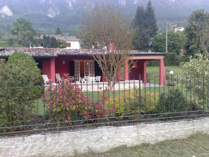 Villa Steano outside, Hotel Alpino, Idro lake