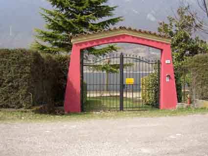 Villa Stefano entrance - Hotel Alpino - Idro lake